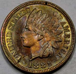 Head Cent GEM PR RB with NICE COLOR & Neat Planchet Crack!!