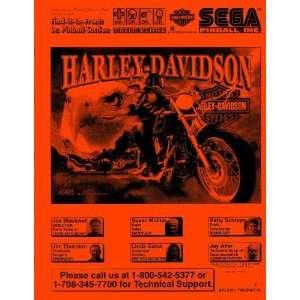 Harley Davidson Pinball Service & Repair Manual Sega: Sega: Books