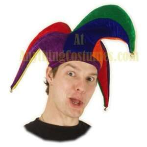 Multi Colored Court Jester Hat: Toys & Games