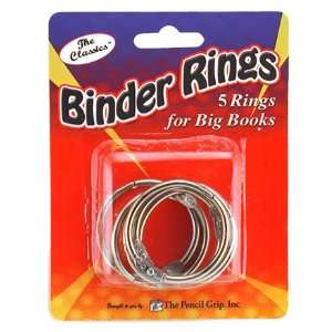 11 Pack THE PENCIL GRIP BOOK RINGS 1.75 IN 5 CARDED