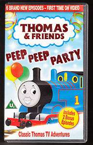 THOMAS THE TANK ENGINE   PEEP PEEP PARTY   PAL VHS (UK) VIDEO