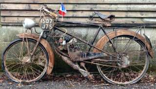 98cc Rare Vintage Bike Cyclemotor Autocycle Moped Bicycle Velo Ancien