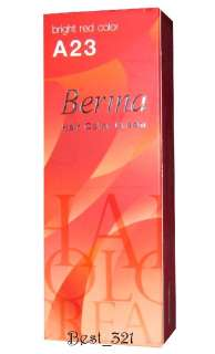 Berina Hair Color cream A23 Bright red dye color