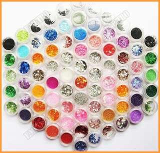 Set 80 Bote de escarcha mylar decoracion para arte uñas