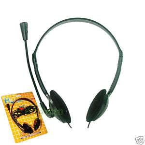 COMPUTER PC STEREO HEADPHONE MICROPHONE HEADSET SKYPE