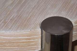 Karl Springer Manner Limed Oak & Chrome Coffee Table
