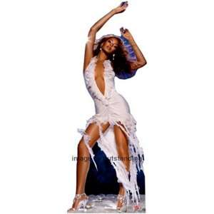 Beyonce in White Dress Life size Standup Standee