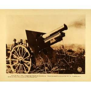 1920 Rotogravure WWI Calamity Jane 11th Field Artillery Machine Gun