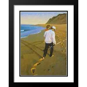 Rob Brooks Framed and Double Matted Art Print 25x29 Papas Catch