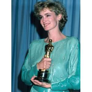 Jessica Lange in Press Room at Academy Awards Stretched