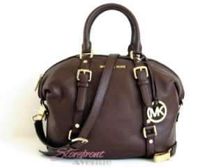 NWT Michael Kors Medium Bedford Mocha Brown Leather Satchel/Shoulder