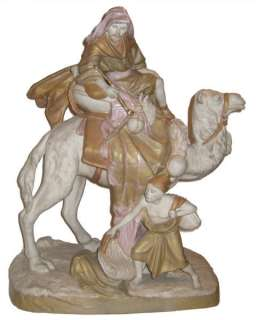 Royal Dux Arab Bedouin On Camel Porcelain Figurine