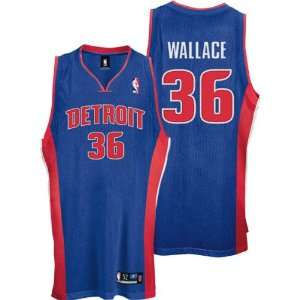 Rasheed Wallace Blue Reebok NBA Authentic Detroit Pistons