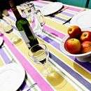 hand   embroidered table runner by ville et campagne