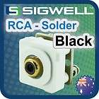 rca solder black custom insert white wall plate gold location