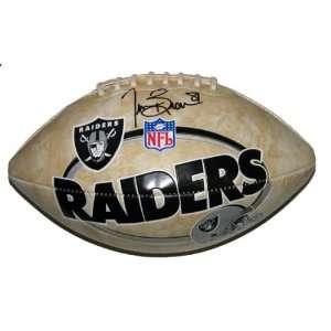 Tim Brown Oakland Raiders Autographed Logo Football