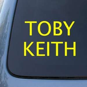 TOBY KEITH   Vinyl Car Decal Sticker #1884  Vinyl Color Yellow