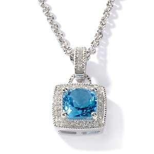Ramona Singer 2.38ct Swiss Blue Topaz and Diamond Sterling Silver