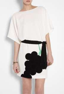 Moschino Cheap & Chic  White Crepe Grape Dress by Moschino Cheap