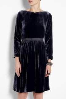 YMC  Blue Velvet Dress by YMC