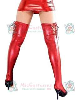 red shiny metallic sexy stockings  0 reviews write a