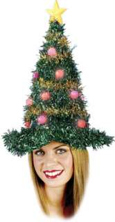 Light Up Tinsel Christmas Tree Hat   Christmas Costume Hats   15FW7498