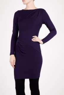 Tibi  Eggplant Draped Jersey Dress by Tibi