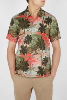 Marc by Marc Jacobs  Olive California Print Shirt by Marc Jacobs