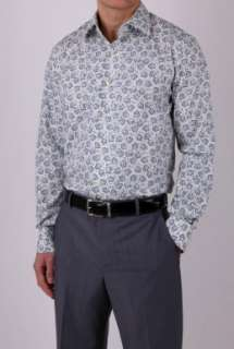 Sky Floral Mid Fit Shirt by Paul Smith London   Blue   Buy Shirts