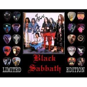 Black Sabbath Framed 20 Guitar Pick Set Platinum Musical Instruments