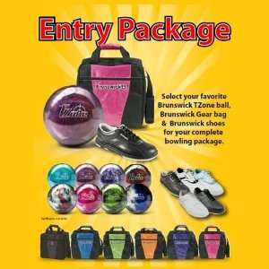 Brunswick T Zone Bowling Ball, Bag and Shoe Package