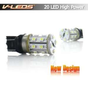 2 AMBER 7W HIGH POWER 20 LED PARKING/TURN SIGNAL BULBS