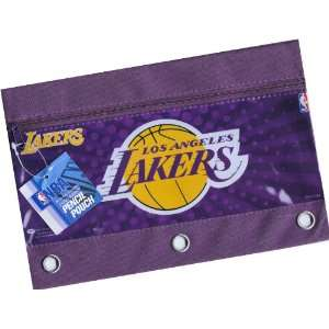 LAKERS Zippered Pencil Case Pouch for 3 Ring Binder