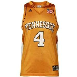 adidas Tennessee Volunteers #4 Orange Replica Basketball Jersey