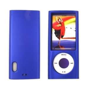 For Apple iPod Nano 5 Rubberized Hard Plastic Case Blue