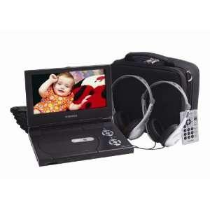 Inch Slim Line Portable DVD Player with Bonus Headphones and Car Kit