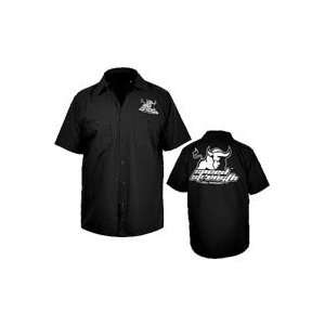 Speed and Strength Raging Bull Garage Shirt Small Automotive