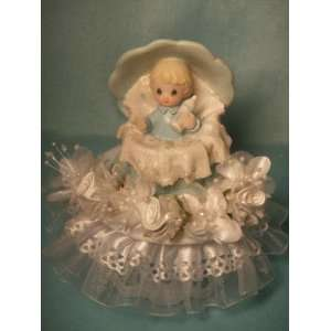 Boy in a Shell Baby Shower Birthday Cake Top Centerpiece