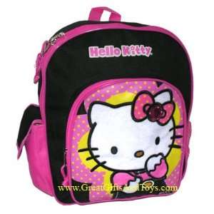 Hello Kitty Black Pink Toddler School Backpack Small Toys & Games