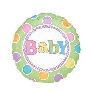 Dots Pattern 18 Mylar Foil Baby Shower Party Balloon