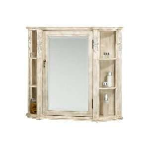 Small antique bathroom mirrored wall cabinet shabby chic