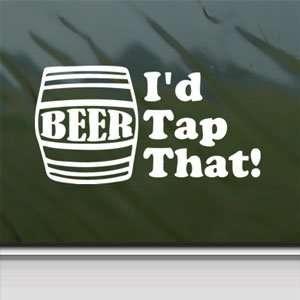 Id Tap That White Sticker Beer Keg Car Vinyl Window