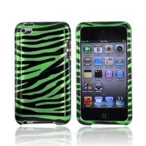GREEN BLACK ZEBRA For Apple iPod Touch 4 Hard Case