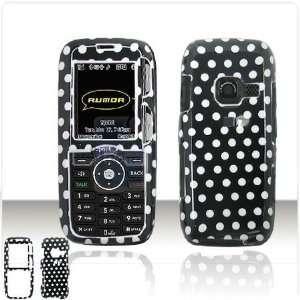 LG LX260 Rumor Scoop Cell Phone Black/White Polka Dot