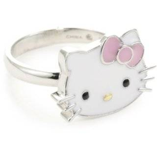 Kitty Pink Enamel Bow And Sterling Silver Charm Bracelet,7 Jewelry