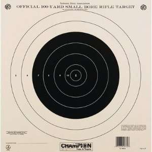 100 yard Single Bull Paper Target: Sports & Outdoors