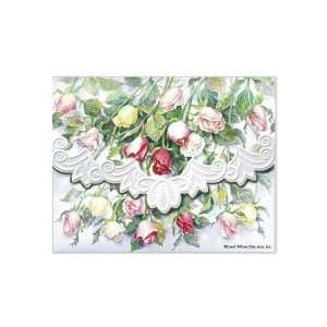 Long Stemmed Roses Note Card Portfolio 10 Ct Health