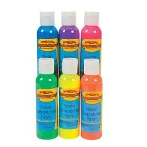 Neon Sun Catcher Paint Set   Art & Craft Supplies & Paints