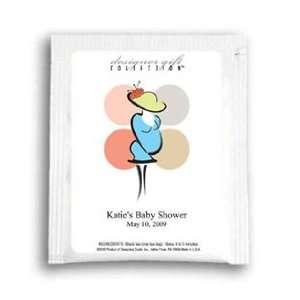 com Baby Shower Tea Favors  Modern Polka Dots Personalized Tea Baby