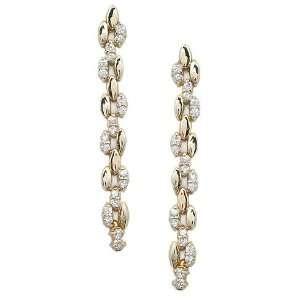 ZIRCONIA EARRINGS   Gold Plated Chain Dangling CZ Earrings Jewelry